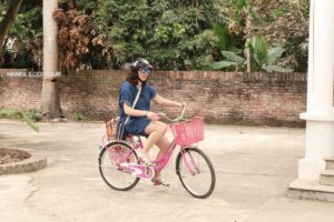 Cycling in rural Hanoi