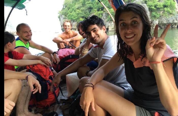Happy guests in Lan Ha bay
