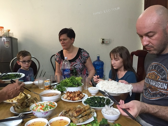 Authentic lunch in Hanoi
