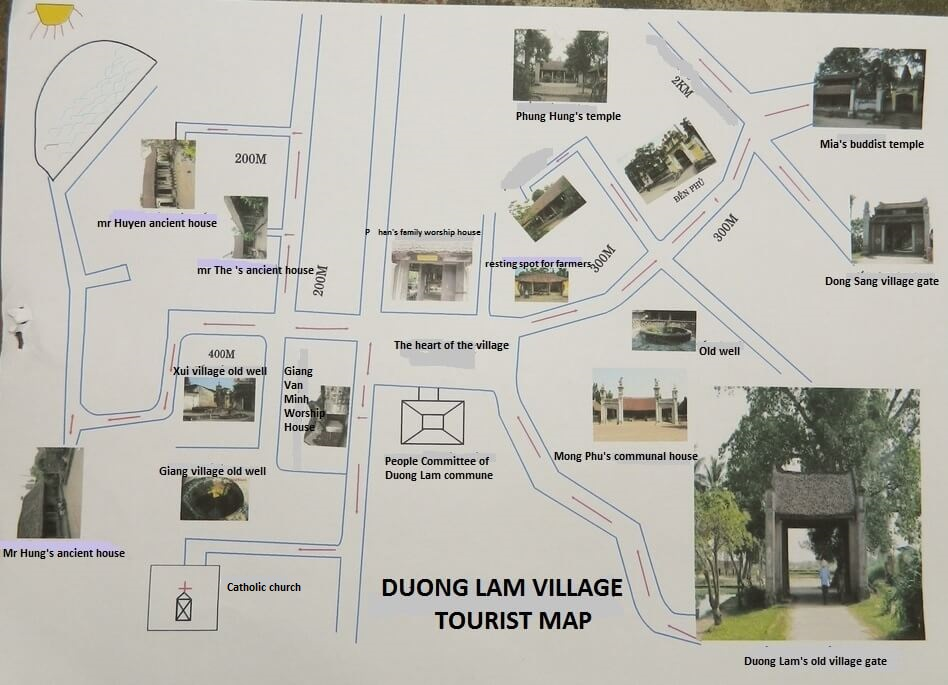 Duong Lam ancient village map
