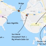 Things to do in Halong city - the city map