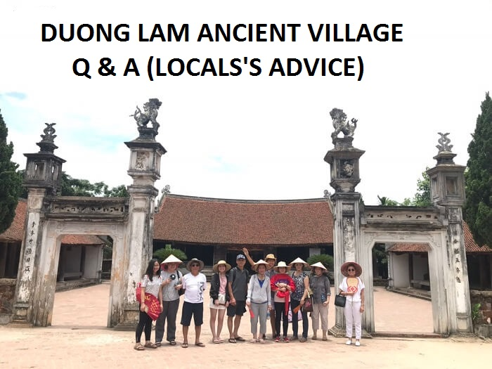 Duong Lam village travelling questions