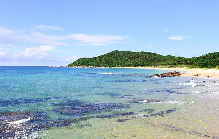 Beach in Thanh Lan island