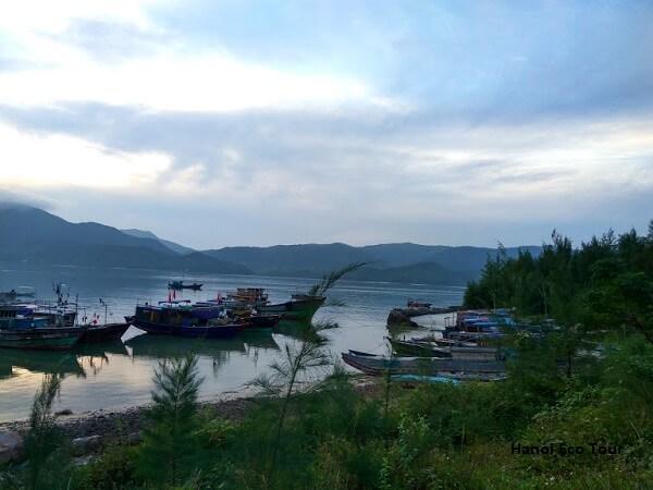 fishing boat dock quan lan island