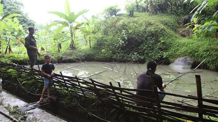 Locals fishing in Mai Chau