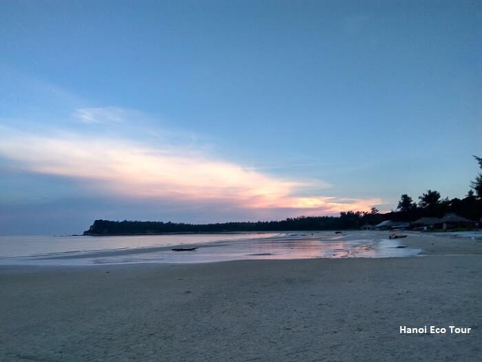sunset minh chau beach quan lan