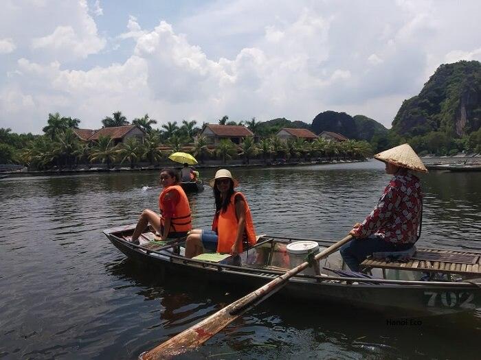 Boat ride in Tam Coc, Ninh Binh
