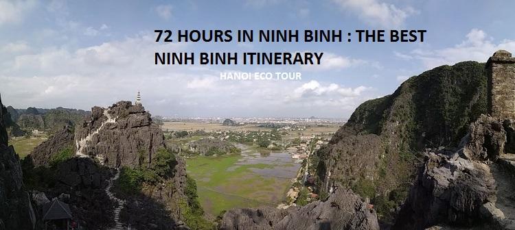 72 hours in Ninh binh, Ninh Binh itinerary