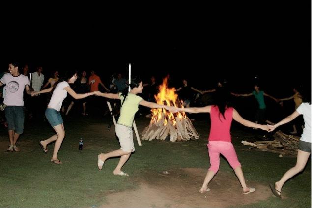 Mai Chau campfire